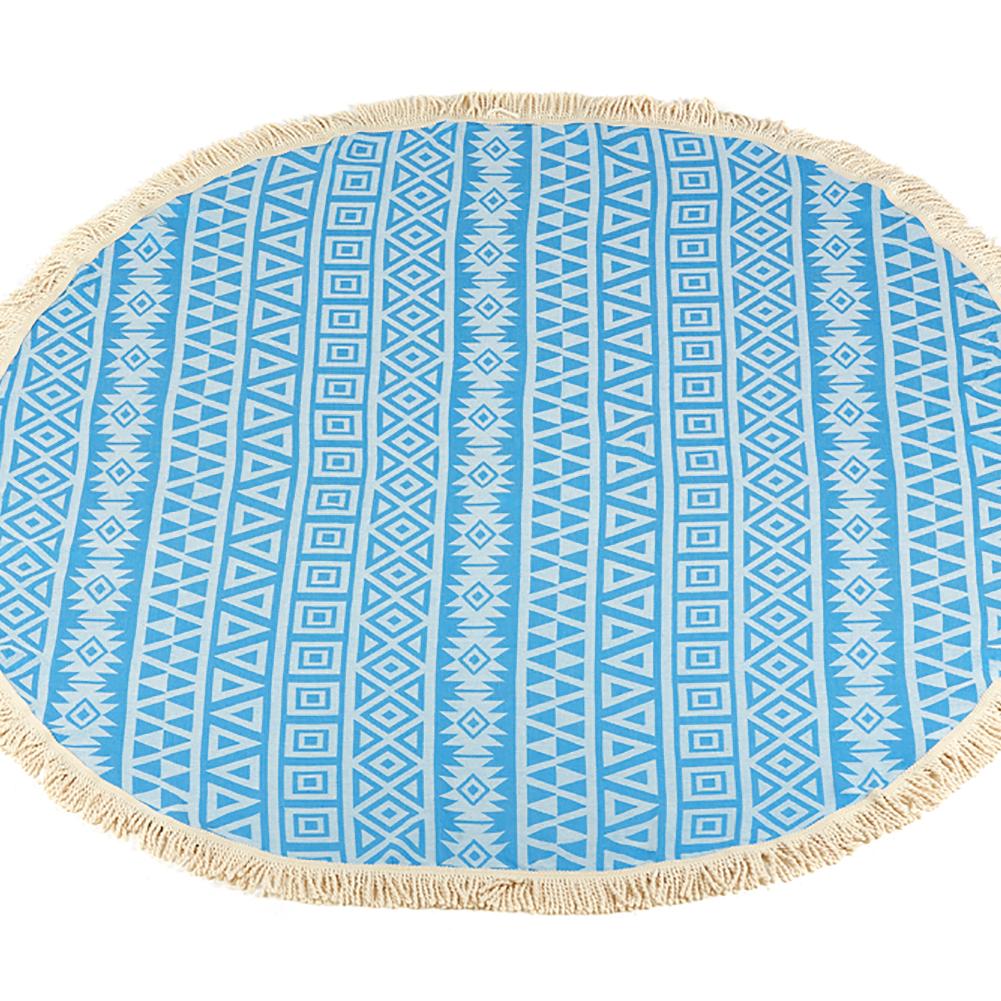 Lushrobe Multi-Purpose All-Season Round Poyraz 100% Natural Turkish Cotton Throw Blanket (700 GSM)