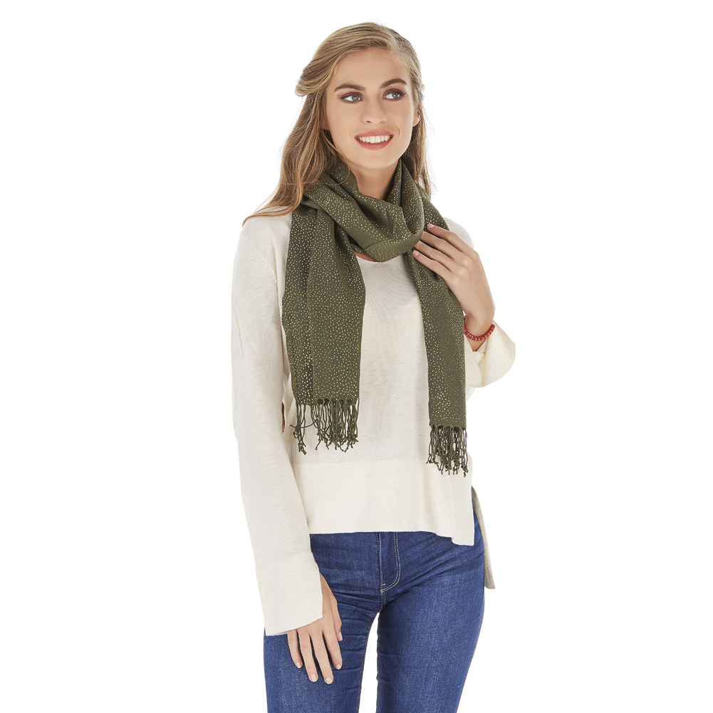 ShawlBliss Four Season Golden Dotted Scarf